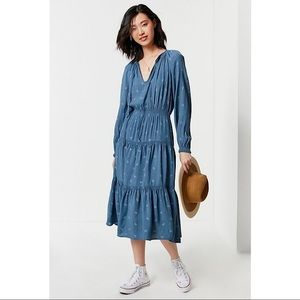Urban Outfitters-Reese Tiered Smocked Maxi Dress
